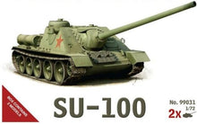 Load image into Gallery viewer, 1/72 scale Military Vehicles (20mm) SU- 100 tank Destroyer