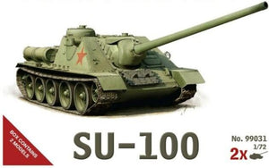 1/72 scale Military Vehicles (20mm) SU- 100 tank Destroyer