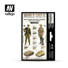 Load image into Gallery viewer, Vallejo World War2 paint set Desert Britsh&German Armour/Infantry