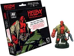Vallejo model color paint sets Hellboy the Board game Paint Set with figure
