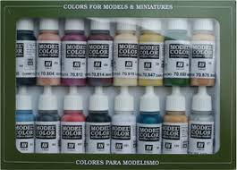 Vallejo model color paint sets Equestrian