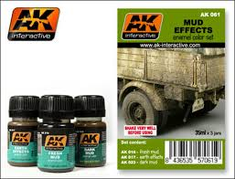 AK Interactive Weathering Sets Mud Effects