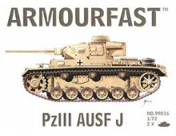 1/72 scale military vehicles (20mm) PZIII Ausf J