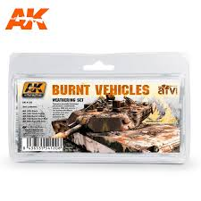 AK Interactive Weathering Sets Burnt Vehicles