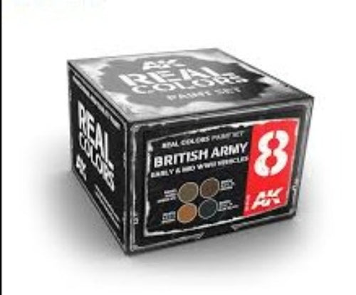 AK Real Colours British Army Early & Mid WWII Vehicles Set