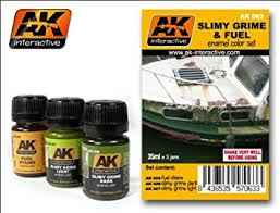 AK Interactive Weathering Sets Slimy Grime and Fuel