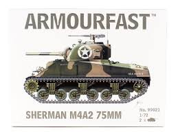 1/72 scale Military Vehicles (20mm) M4A2 Sherman 75mm