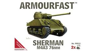 1/72 scale Military Vehicles (20mm) M4A3 Sherman 76mm
