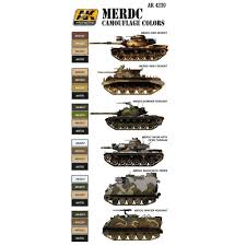 AK Interactive AFV Series MERDC Camoflage Colors