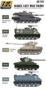 AK Interactive AFV Series Middle east War colors