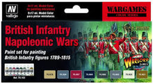 Load image into Gallery viewer, Vallejo model color paint sets British Infantry Napoleonic Wars set (Warlord games)