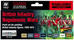 Vallejo model color paint sets British Infantry Napoleonic Wars set (Warlord games)