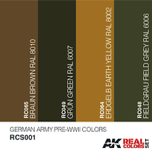 Load image into Gallery viewer, Ak Real Colours German Army Pre-WWII Colors Set