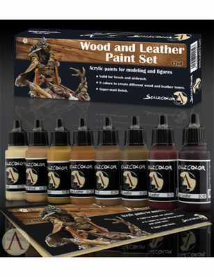 Scale75 Sets Wood and Leather Paint Set