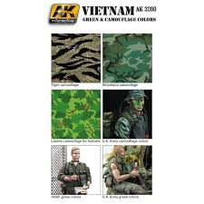 AK Interactive Figure Series Vietnam US Green& camoflage