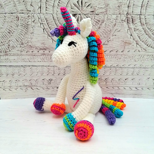 Rainbow the Unicorn Luxury Crochet Kit