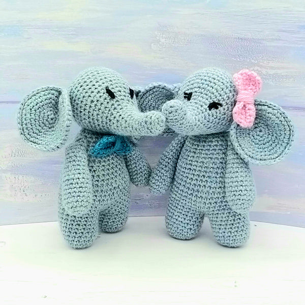 PDF Crochet Pattern - Eli & Ella the Elephants