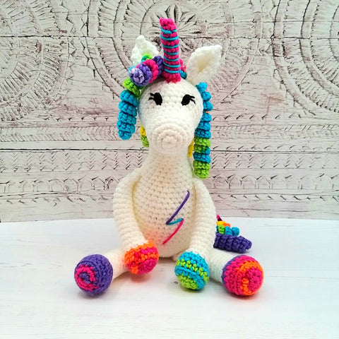 PDF Crochet Pattern - Rainbow the Unicorn