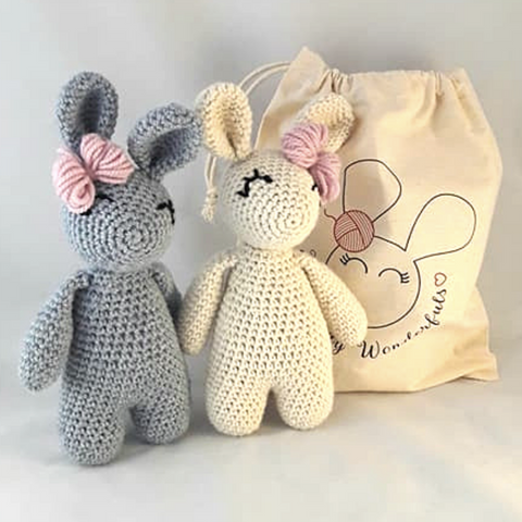 Luxury Alpaca Two Bunny Crochet Kit