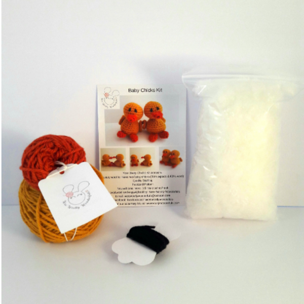 Two Chicks Mini Crochet Kit - Easter Crochet Kit