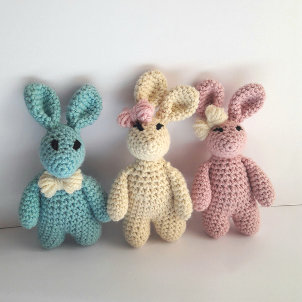 Crochet Kit - Baby Bunny Mini Crochet Kit in Luxury Wool & Alpaca