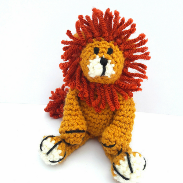 PDF Crochet Pattern - Baby Lion