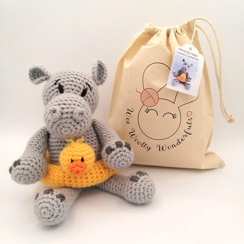 Henry the Hippo Luxury Crochet Kit