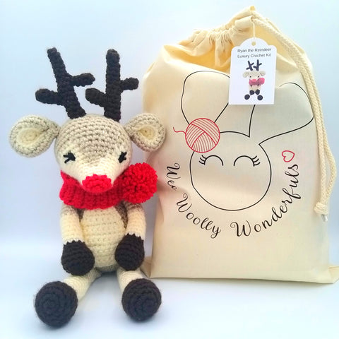 Ryan the Reindeer the Brand New Christmas Wee Woolly Wonderfuls Kit!
