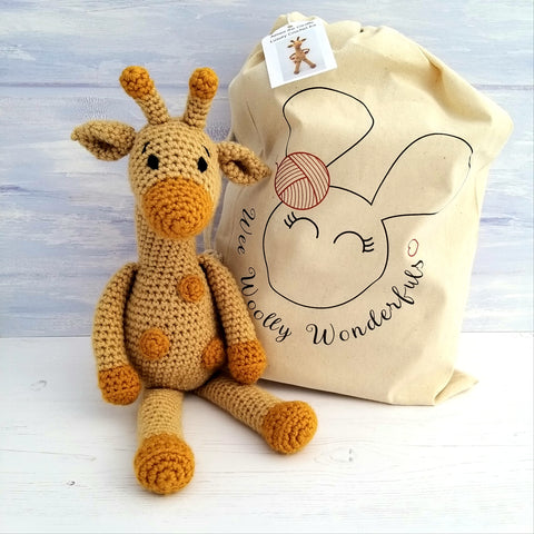 Aimee the Giraffe Crochet Kit - Complete Beginner Kit with Video Tutorials