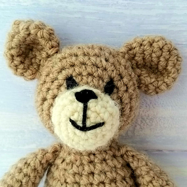 Baby Bear Mini Crochet Kit in Luxury Wool & Alpaca