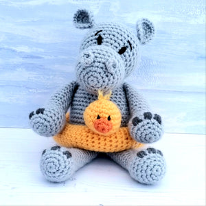 PDF Crochet Pattern - Henry the Hippo
