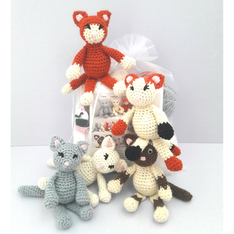 Kitty Kittens Mini Kit - 3 Adorable Kittens to make in one Kit!
