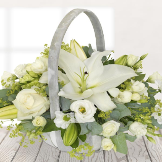 Barra - Funeral Basket with White Lily