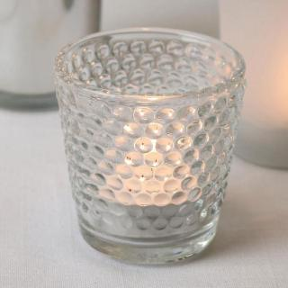 Bonato - Dimple Glass Tealight Holder - Pack of 20.