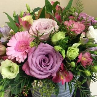 Kimbridge - Lilac Roses and Cream Blooms Bouquet.