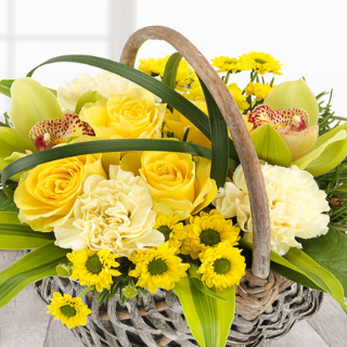 Skye - Funeral Basket in Yellows and Golds.