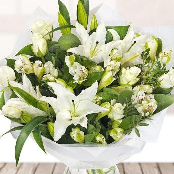 Chilland - White Blooms Sympathy Bouquet.