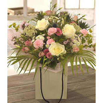 Carlie - Soft Pink & White - Florists Choice Bouquet