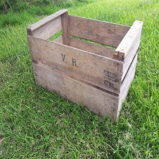 Vintage Dutch Wooden Flower Crates.