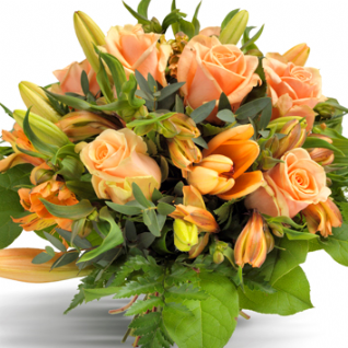 Erica - Soft Peach & Oranges Bouquet.