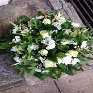 Funeral Posy White Seasonal Flowers.