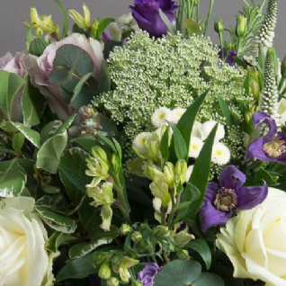 Hamble - Blues, Lime & White Bouquet.