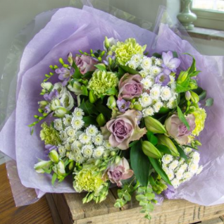 Harriet - Lilac, Cream & Lime Bouquet.