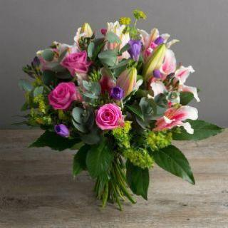 Henni -  Lily, Freesia & Pink Rose Bouquet.