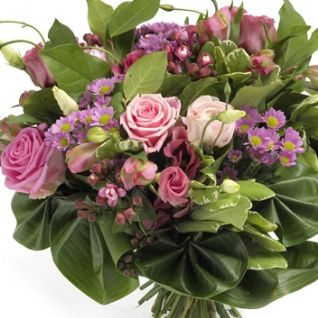 Herriard - Lavender Pink Roses Bouquet.