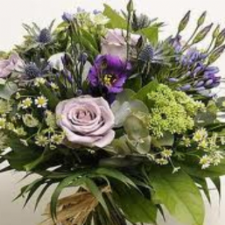 Highcliffe -  Vintage Lilac Roses Bouquet.