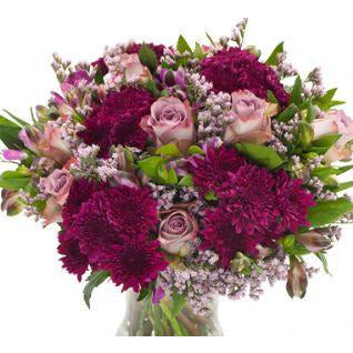 Kimberley - Lilac,Purple and Cream Bouquet.