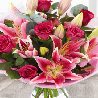 Lucie - Scented Pink Lily and Roses.