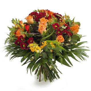Lydia -   Amber Roses & Red Bouquet.