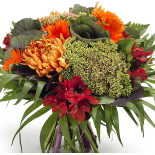Suni -  Opulent Orange & Red Bouquet.